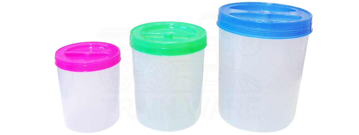 Medium-Large round plastic container