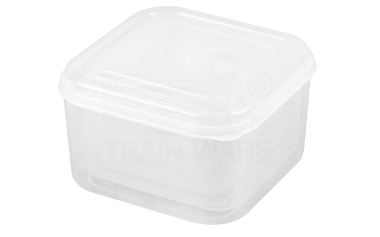 square plastic food reserve container